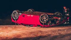 La Lamborghini Huracan distrutta nell'incidente