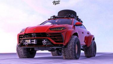 La Lamborghini Urus delle nevi