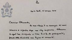 La lettera del Papa ad Alessandro Zanardi, 24 giugno 2020