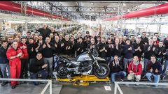 La linea di produzione Moto Guzzi