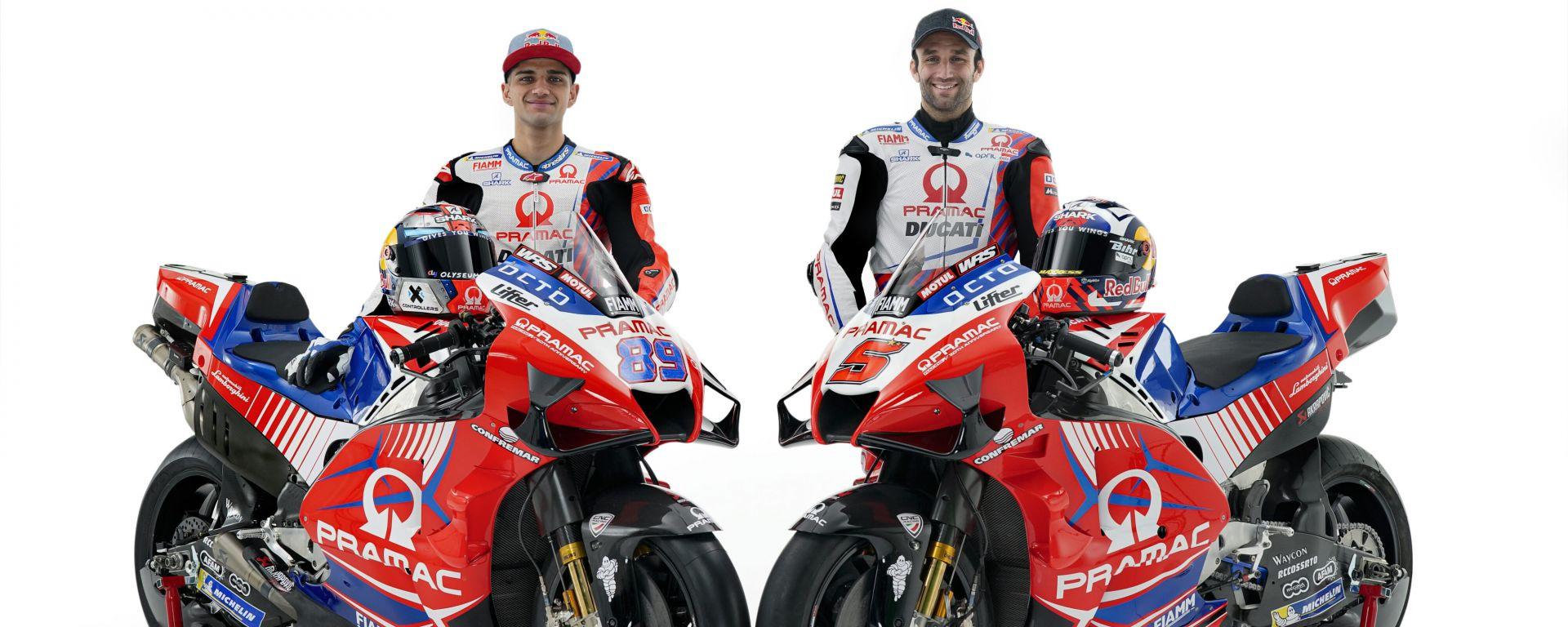 La livrea della nuova Ducati Demosedici GP21 del Pramac Racing di Jorge Martin e Johann Zarco