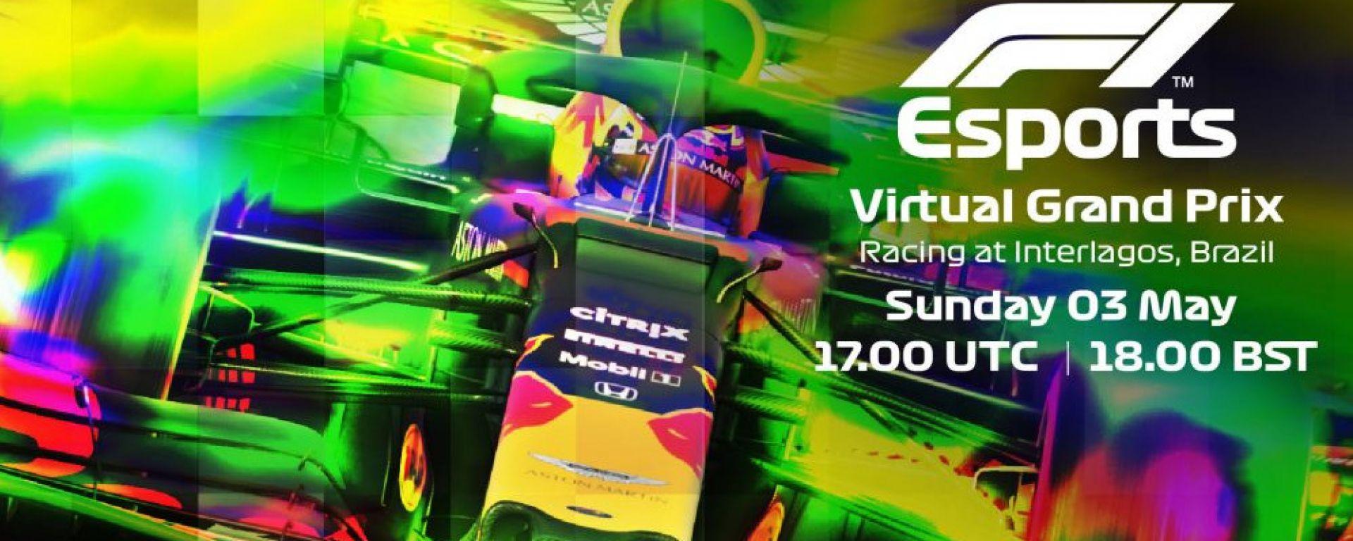 La locandina del quarto VirtualGP della stagione 2020 di Formula 1