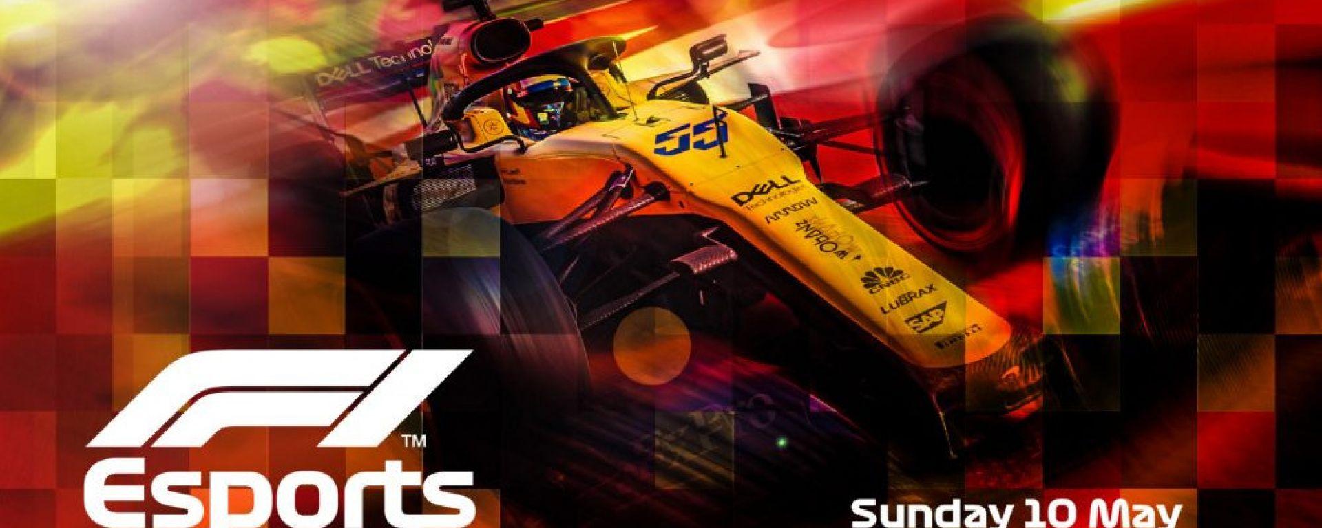 La locandina dell'evento F1 Esport VirtualGP Spagna