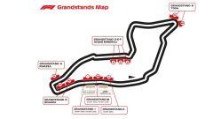 La mappa completa del circuito e le tribune di Imola per il GP Emilia Romagna F1 2020