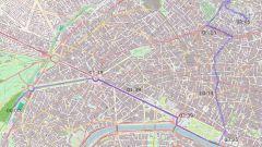 La mappa della strada percorsa nel cortometraggio