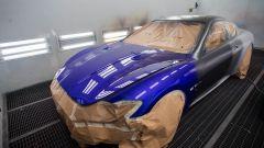 La Maserati GranTurismo Zéda durante la verniciatura
