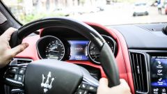 La Maserati Levanti ha la frenata d'emergenza con riconoscimento del pedone
