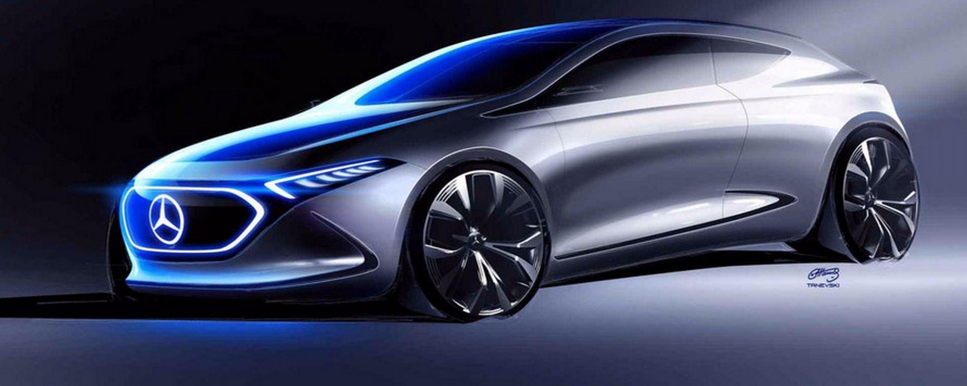 La Mercedes EQ A, concept elettrico presentato in occasione dell'ultimo Salone di Francoforte