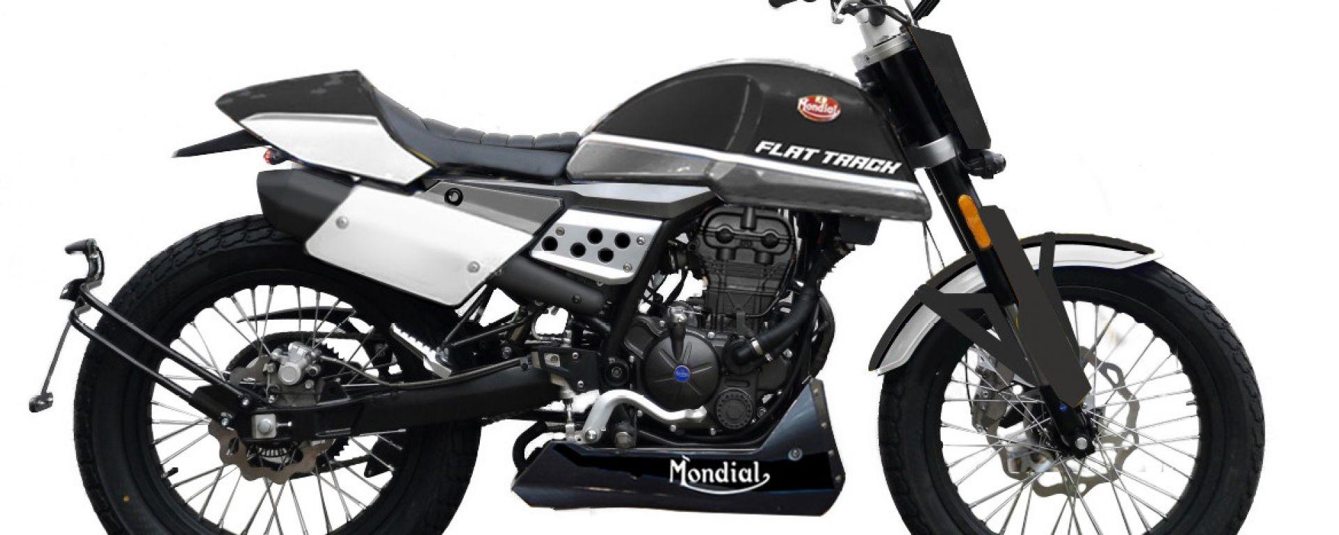 La Mondial Flat Track 125 in versione nera
