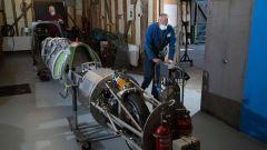La moto con cui Guy Martin tenterà il record di velocità: ha un motore Rolls Royce a turbina, capace di 1.200 CV