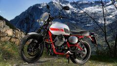 La Moto Guzzi V7 II Stornetto ha gli stessi colori della Stornello del 1972