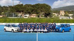 La Nazionale italiana di calcio e la Fiat Pandazzurri