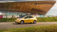 La Nissan Leaf dorata sarà esposta alla O2 Arena di Londra fino al termine dei Giochi di Rio 2016