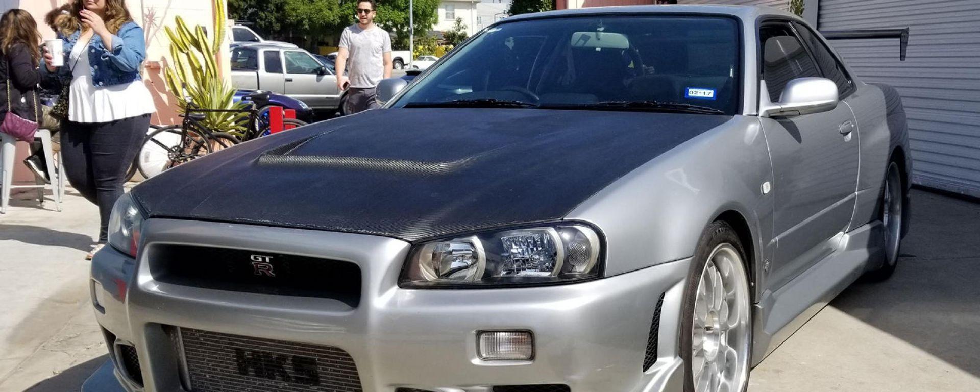 La Nissan Skyline che fu di Paul Walker, protagonista di Fast and Furious