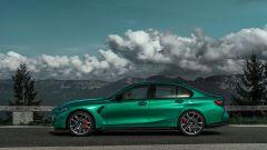La nuova BMW M3 vista di lato