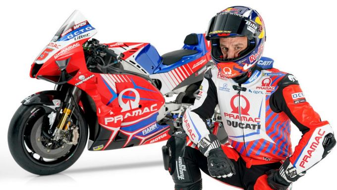 La nuova Ducati Demosedici GP21 del Pramac Racing e Johann Zarco