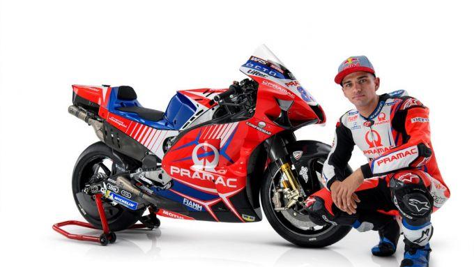La nuova Ducati Demosedici GP21 del Pramac Racing e Jorge Martin