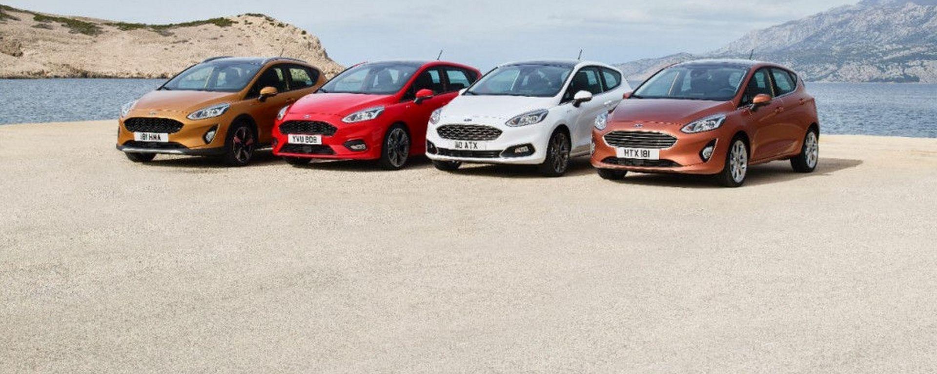 La nuova Ford Fiesta sarà disponibile in 5 differenti versioni