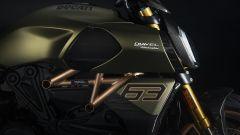 La parte laterale della Ducati Diavel 1260 Lamborghini