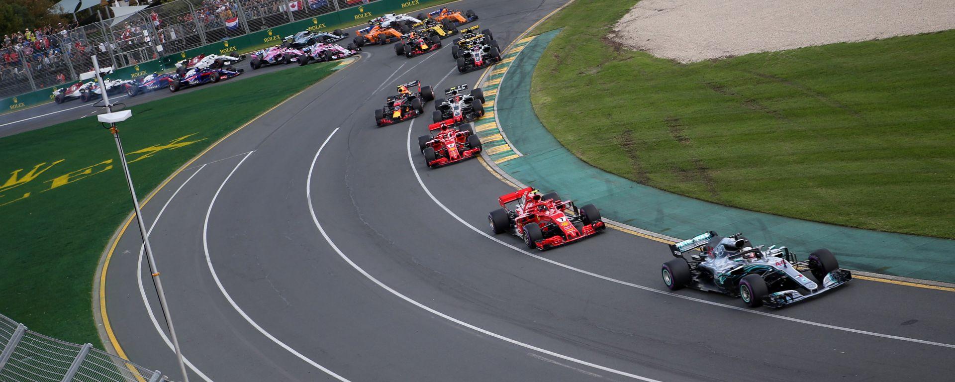 La partenza del GP Australia F1 2018
