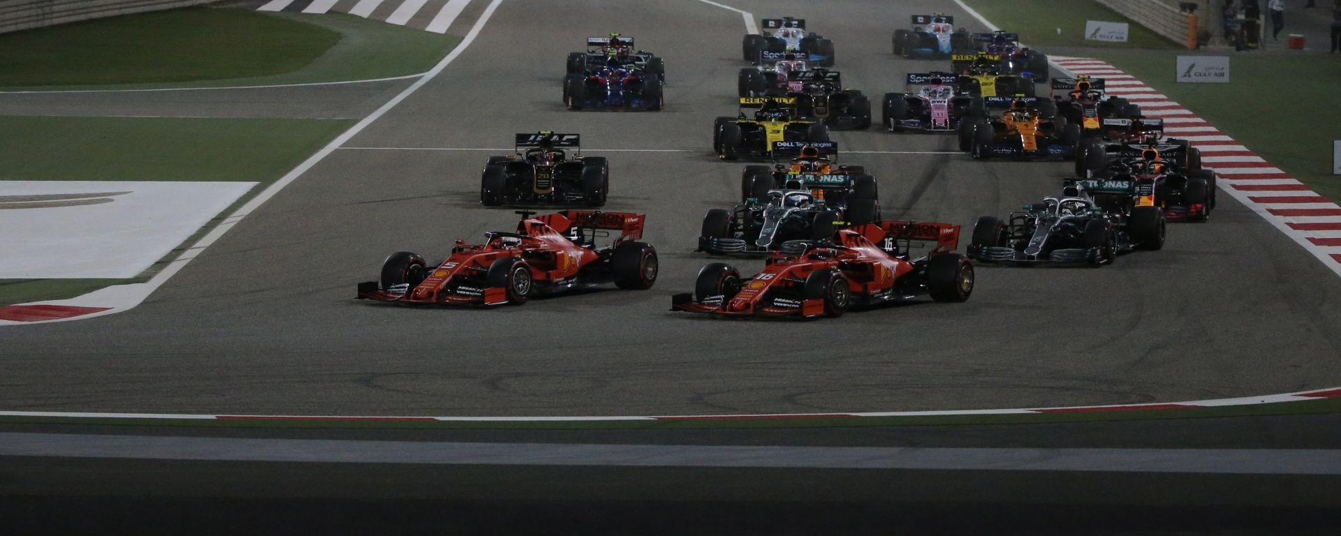 La partenza del Gp Bahrain 2019