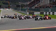 La partenza del GP Belgio 2018 a Spa-Francorchamps