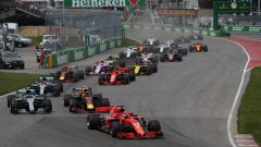 La partenza del Gp Canada 2018, vinto da Sebastian Vettel su Bottas e Verstappen