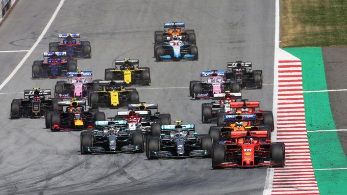 La partenza del GP d'Austria 2019 di Formula 1 al Red Bull Ring di Spielberg