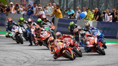 La partenza del GP d'Austria 2019 di MotoGP al Red Bull Ring di Spielberg