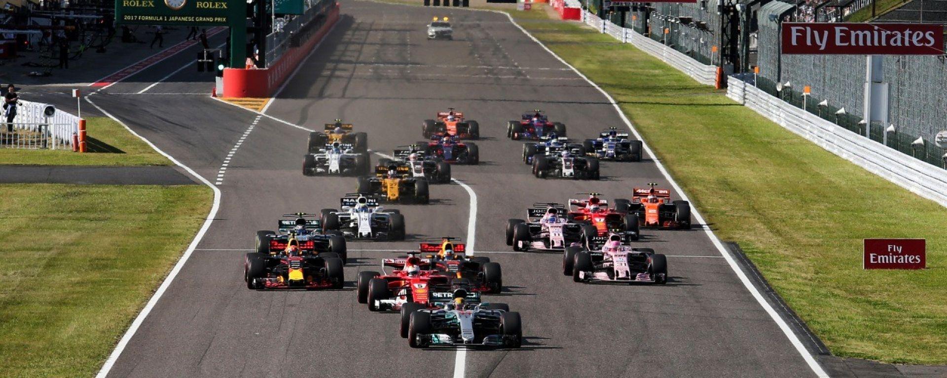 La partenza del GP del Giappone 2017 a Suzuka