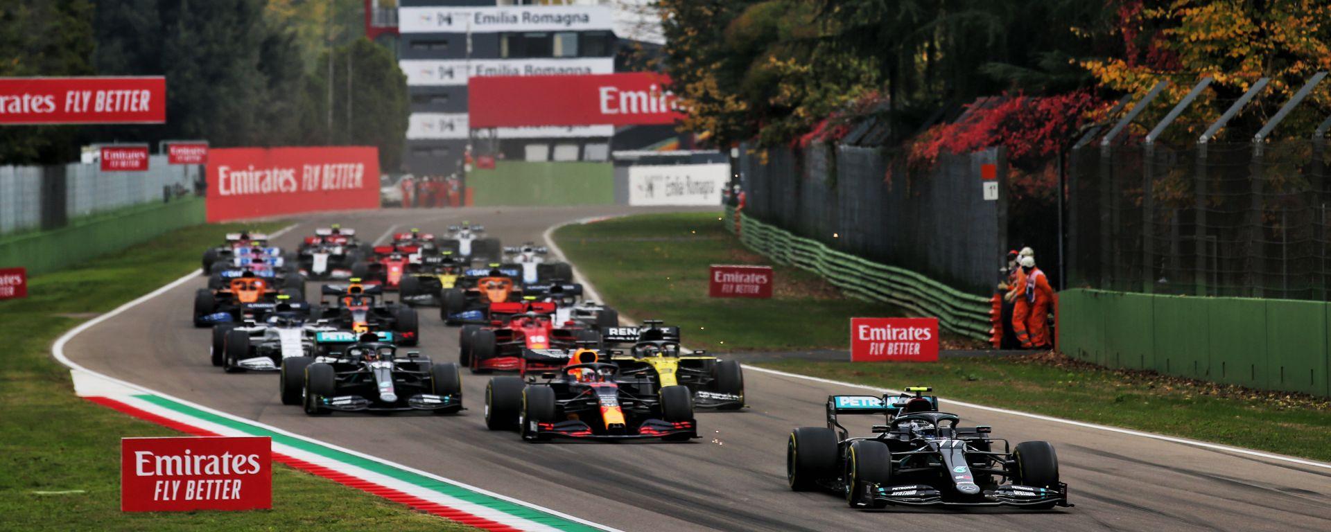 La partenza del GP dell'Emilia Romagna 2020