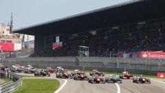 La partenza del GP di Germania 2013 al Nurburgring