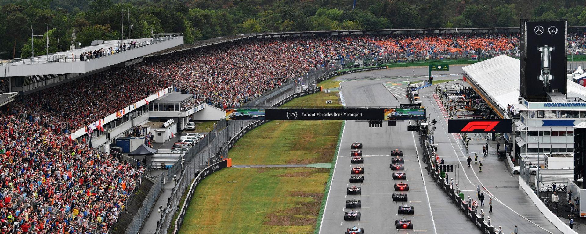 La partenza del GP di Germania 2019 a Hockenheim