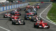 La partenza del GP di Imola 2006
