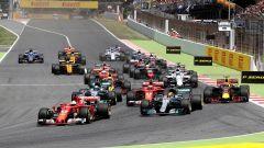 La partenza del GP di Spagna 2017