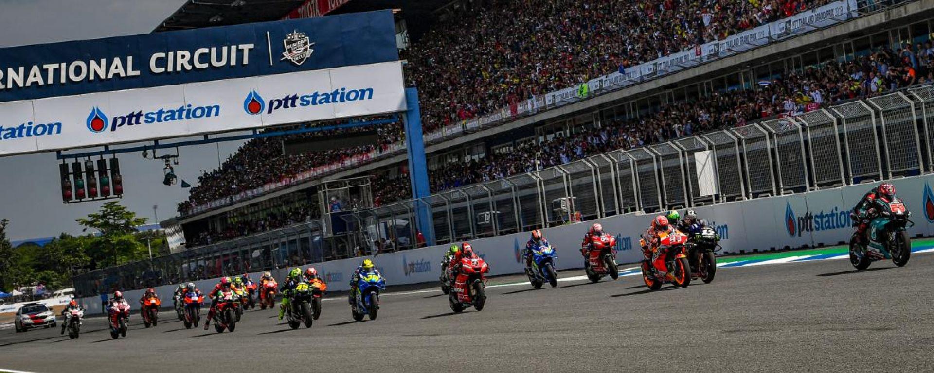 La partenza del Gran Premio di Thailandia 2019