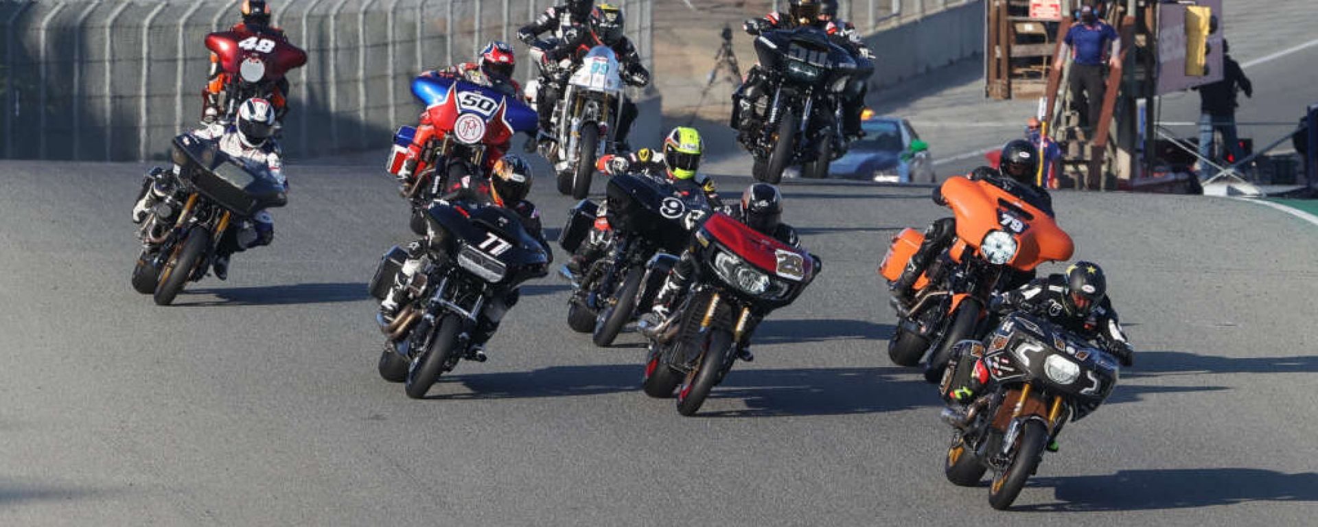 La partenza della prima gara di King of the Baggers a Laguna Seca