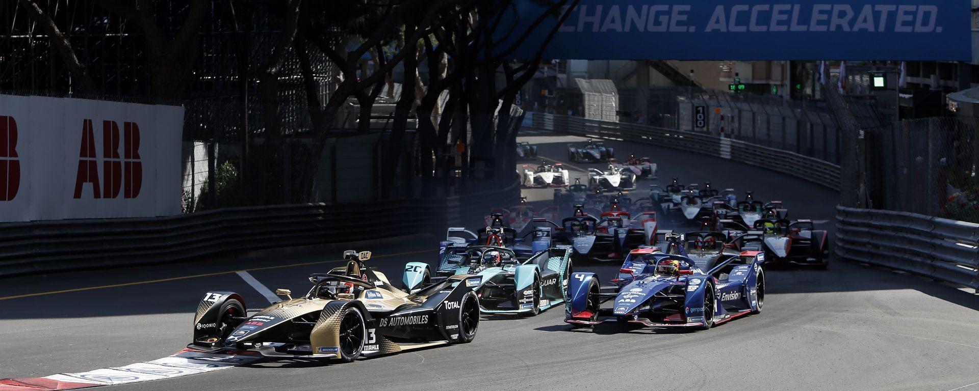 La partenza dell'ePrix di Monaco 2021