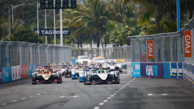 La partenza dell'ePrix di Sanya 2019