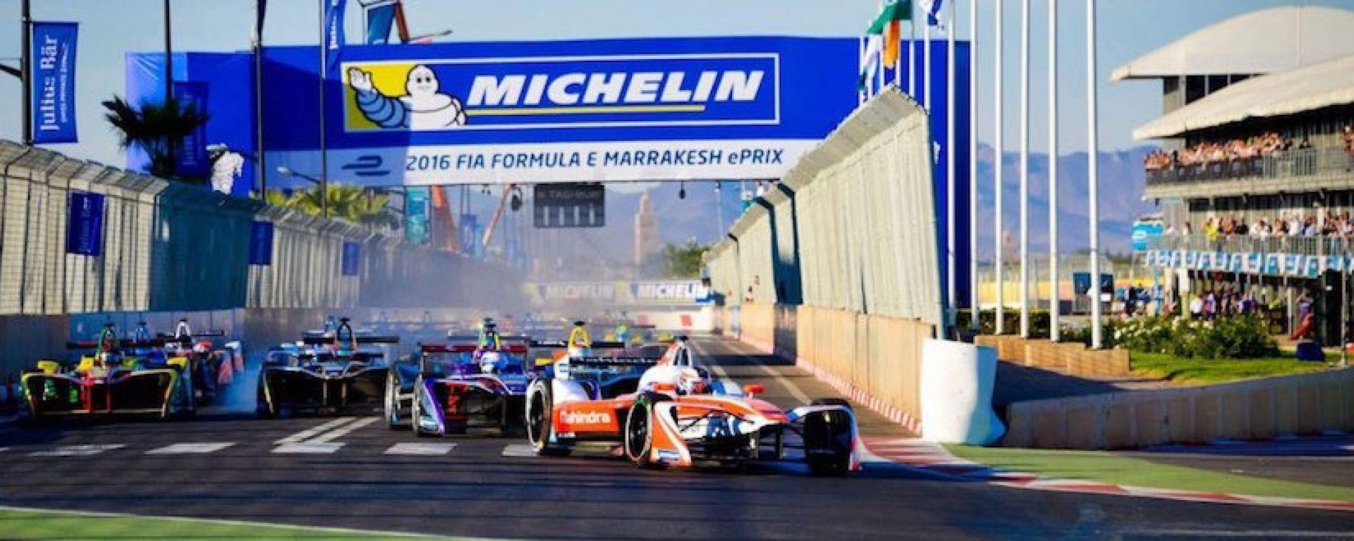 La partenza dello scorso ePrix di Marrakesh - FIA Formula  E