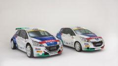 La Peugeot 208 T16 di Andreucci e la Peugeot 208 R2 di Pollara - Peugeot Sport Italia