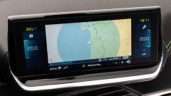 La Peugeot e-208, lo schermo dell'infotainment