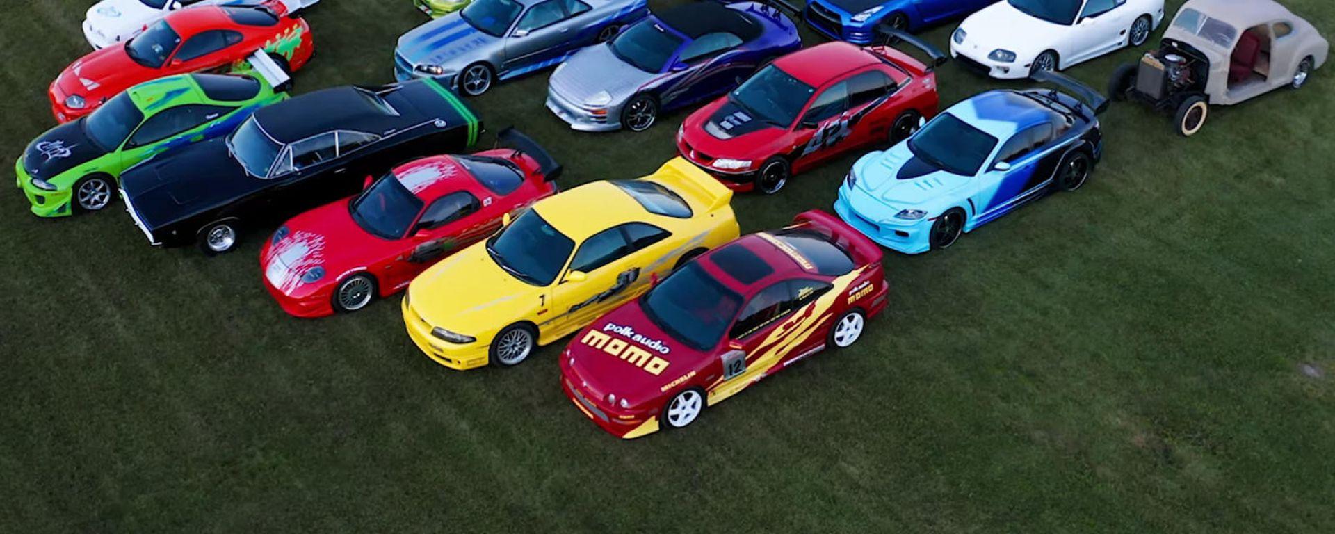 La più grande collezione di auto di Fast & Furious, anche in video