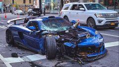 La Porsche Carrera GT (Gemballa) andata distrutta a New York