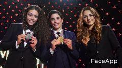 La premiazione di fine anno della MotoGP 2016 con Valentina Rossi, Marcolina Marquez e Georgina Lorenzo