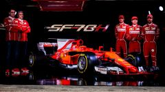 La presentazione della Ferrari SF70H