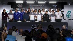 La presentazione ufficiale a Silverstone del team Petronas Yamaha 2019 con Morbidelli e Quartararo
