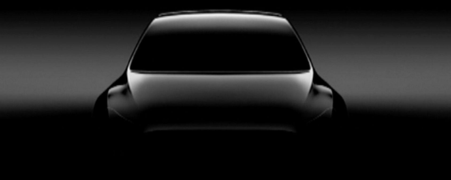 La prima immagine teaser della Tesla Model Y