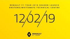La Renault 2019 verrà presentata il 12 febbraio a Enstone