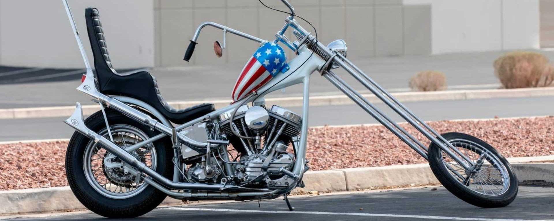 La replica dell'Harley-Davison Panhead 1963 del film Easy Rider